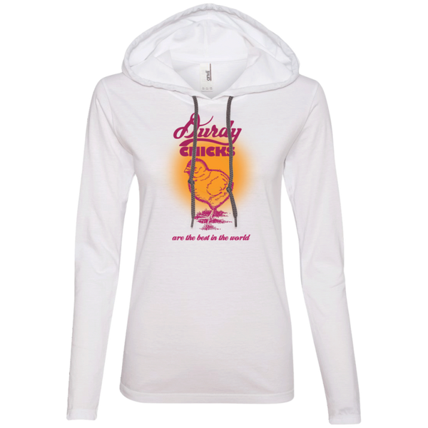 Durdy Chicks Anvil Ladies' LS T-Shirt Hoodie