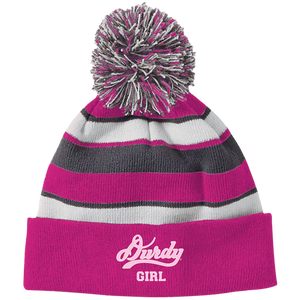 Durdy Girl Holloway Striped Beanie with Pom