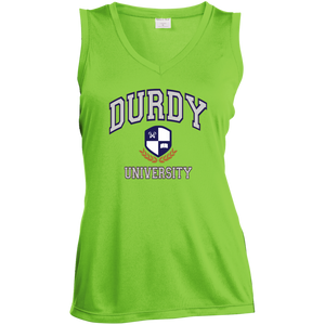 Durdy University Sport-Tek Ladies' Sleeveless Moisture Absorbing V-Neck
