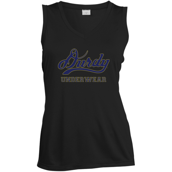 Durdy Underwear Sport-Tek Ladies' Sleeveless Moisture Absorbing V-Neck