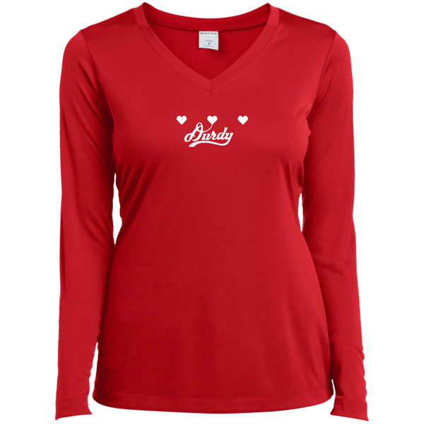 Triple Heart Durdy Sport-Tek Ladies' LS Performance V-Neck T-Shirt