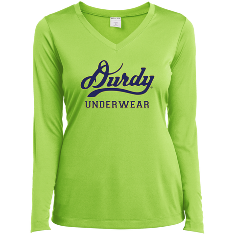 Durdy Underwear Sport-Tek Ladies' LS Performance V-Neck T-Shirt