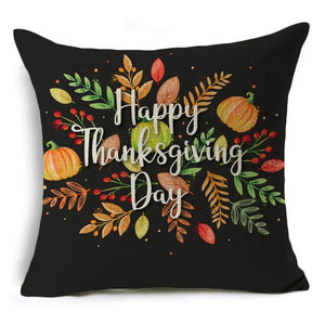 Decoration Autumn Harvest Seat Waist Cushion Pumpkin Pillow Case Cover Sofa Happy Thanksgiving Day