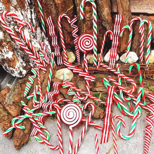 Christmas Decorations Plastic Hollow Candy Cane
