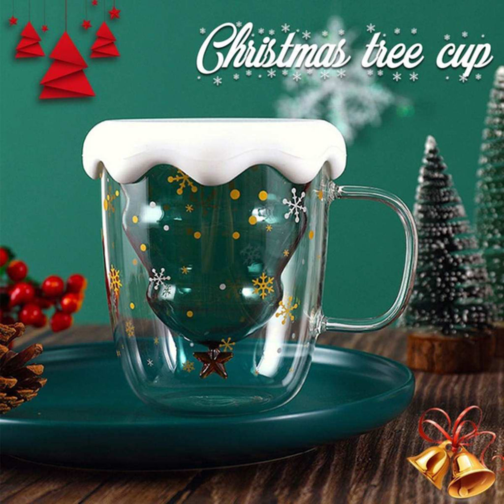 Christmas Tree Star Water Cup Double-Layer Explosion-Proof Insulation Mug