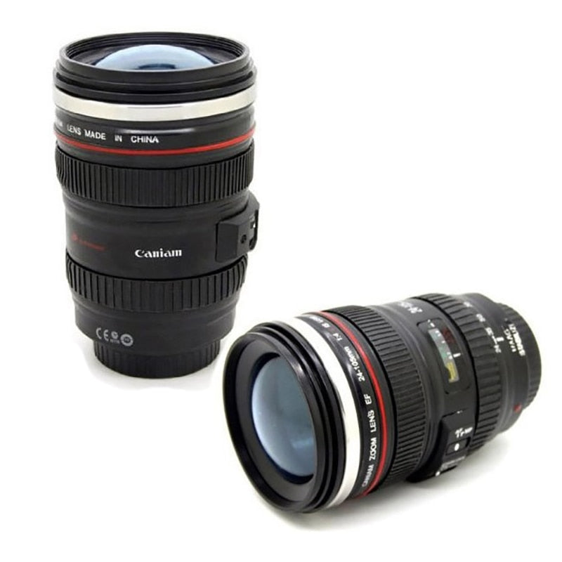 Coffee mug 24-105mm 1:1 camera lens SIX generation of creative emulation mug (with lid)
