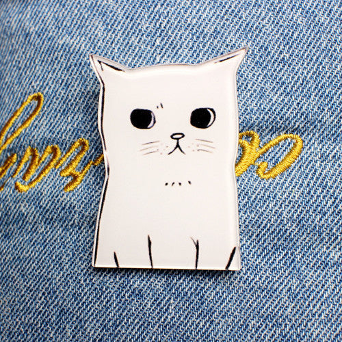 New Acrylic Brooches Pins Figure Simpson Fruit cartoon jewelry cute dog cat Broche shirt enamel pin