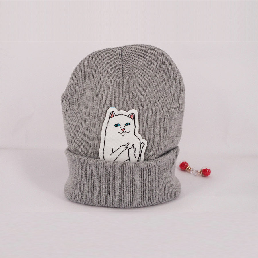6 color NEW autumn winter spring beanie new style cat wool knit hat hip hop hedging men & women
