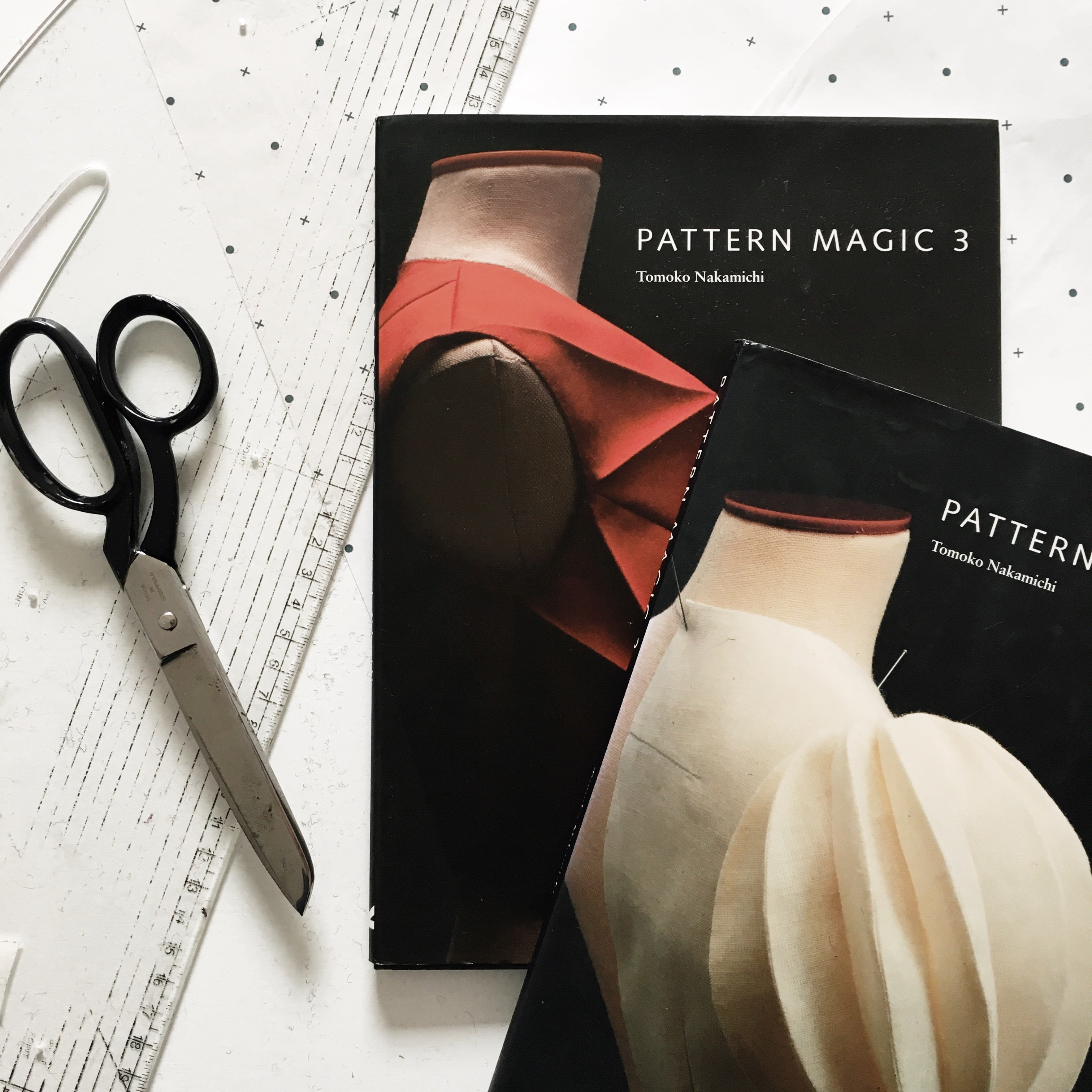 Japanese pattern cutting books and equipment