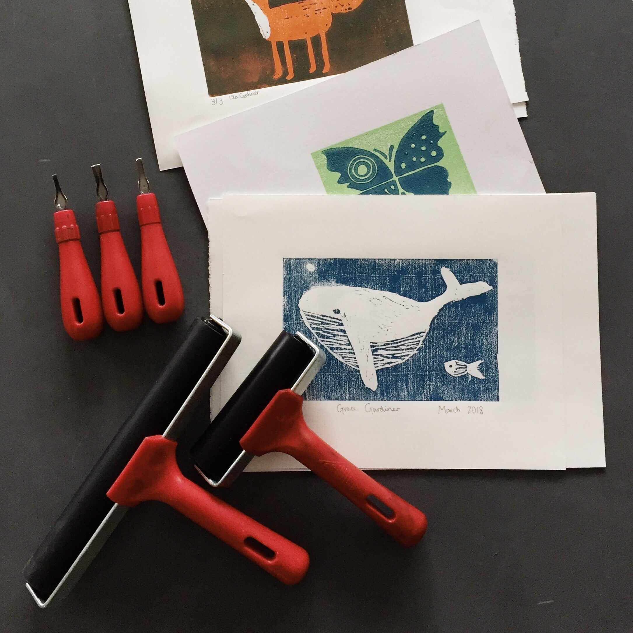 Reduction Linocut Printing