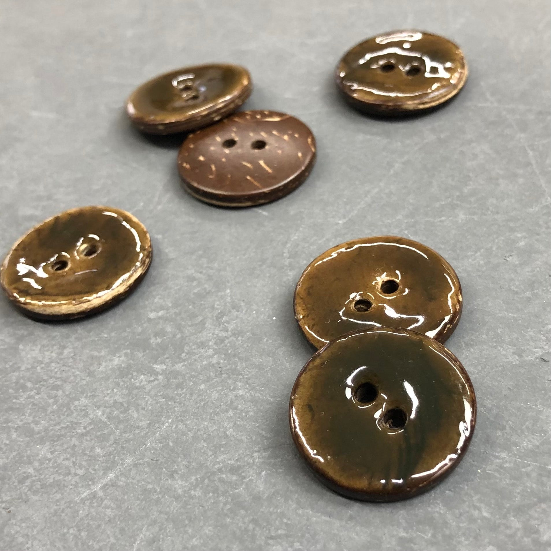 Brown Coconut Shell Buttons