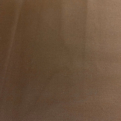Cotton Sateen Stretch Fabric in Mocha
