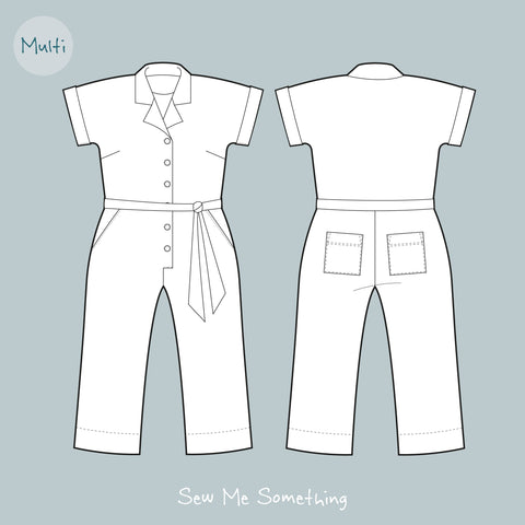 Casual Jumpsuit Sewing Pattern - Cressida