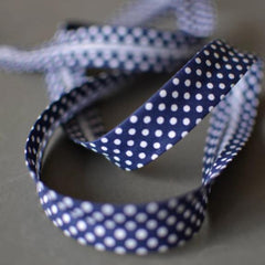 Polka Dot Bias Binding 18mm