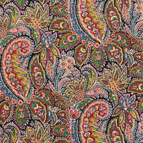 Festival Paisley Red Cotton Lawn