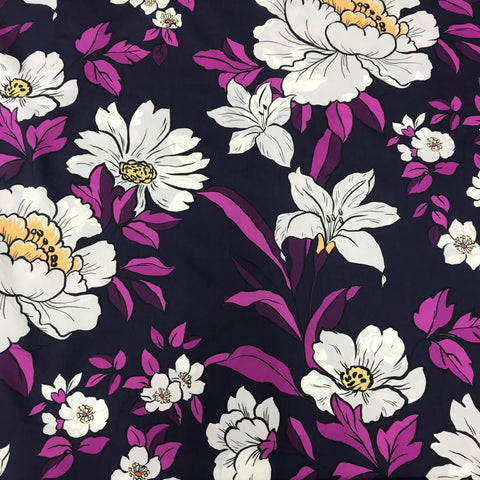 Coleman Bouquet Violet Cotton Lawn