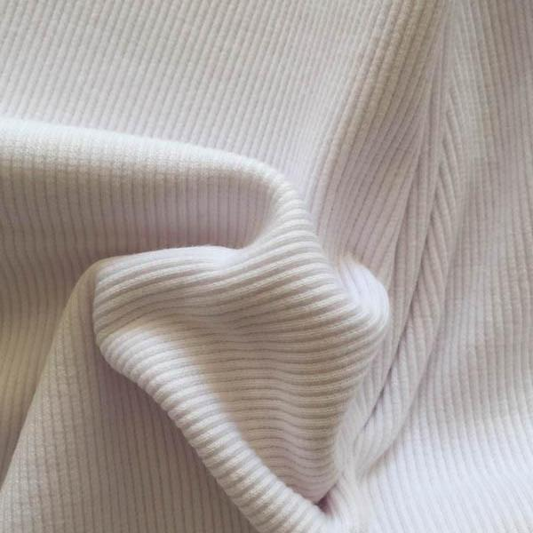 Cotton Ribbing White