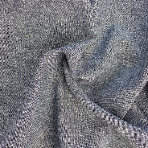 Linen Mix Chambray Blue