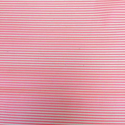 Coral Stripe Cotton Silk Mix