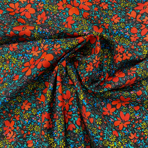Midnight Meadow Cotton Fabric