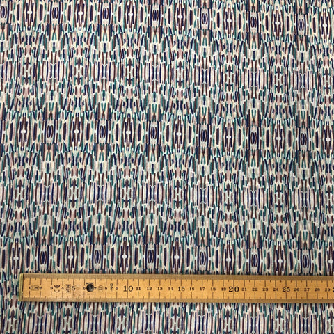 Pencil Sketch Cotton Lawn Fabric