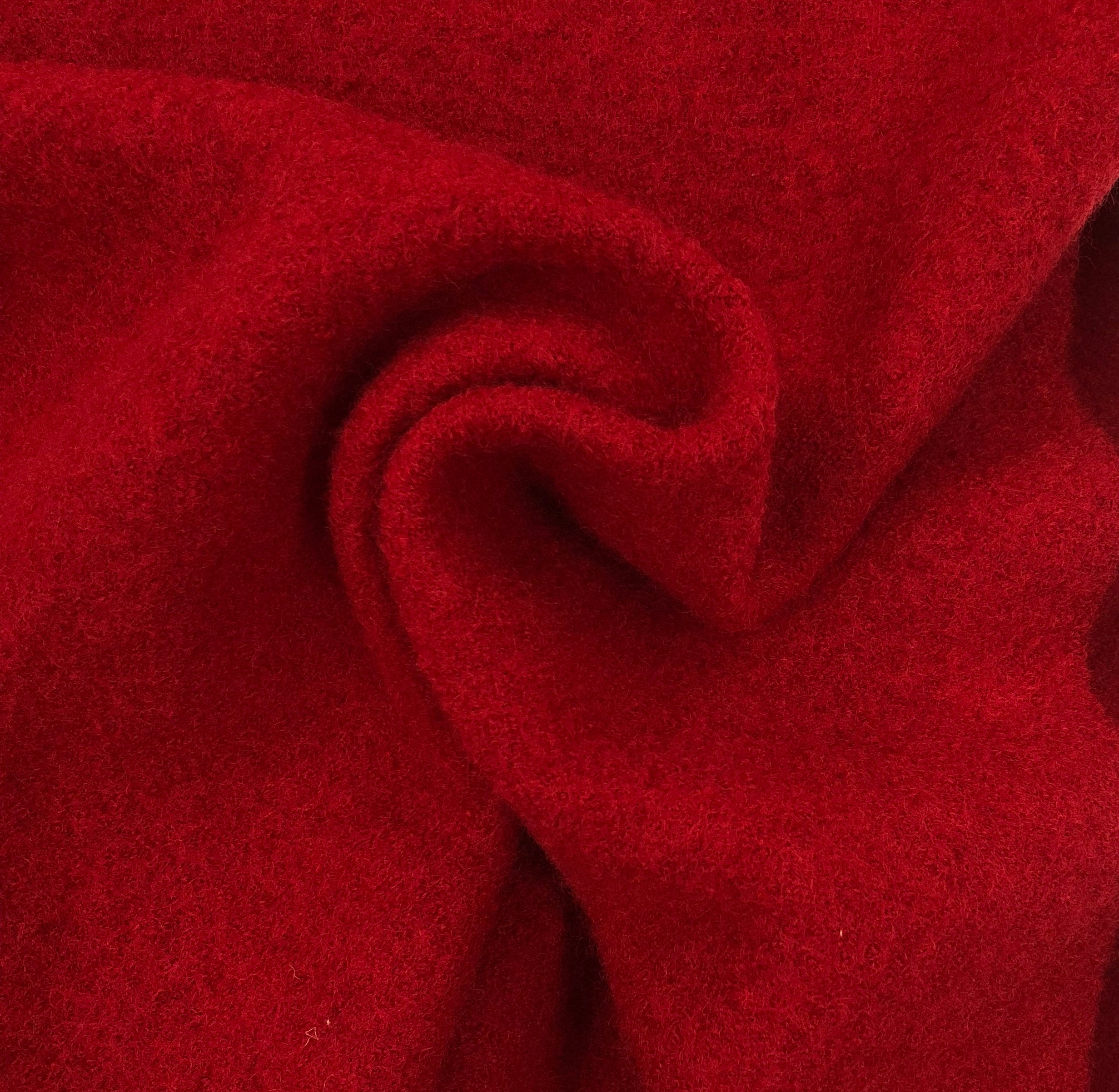 Red 100% Boiled Wool