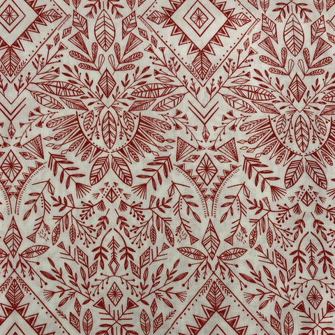 Red and White Nordic Print