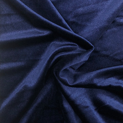 Stretch Velour Navy