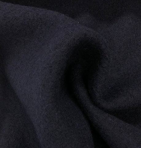 Dark Navy 100% Boiled Wool