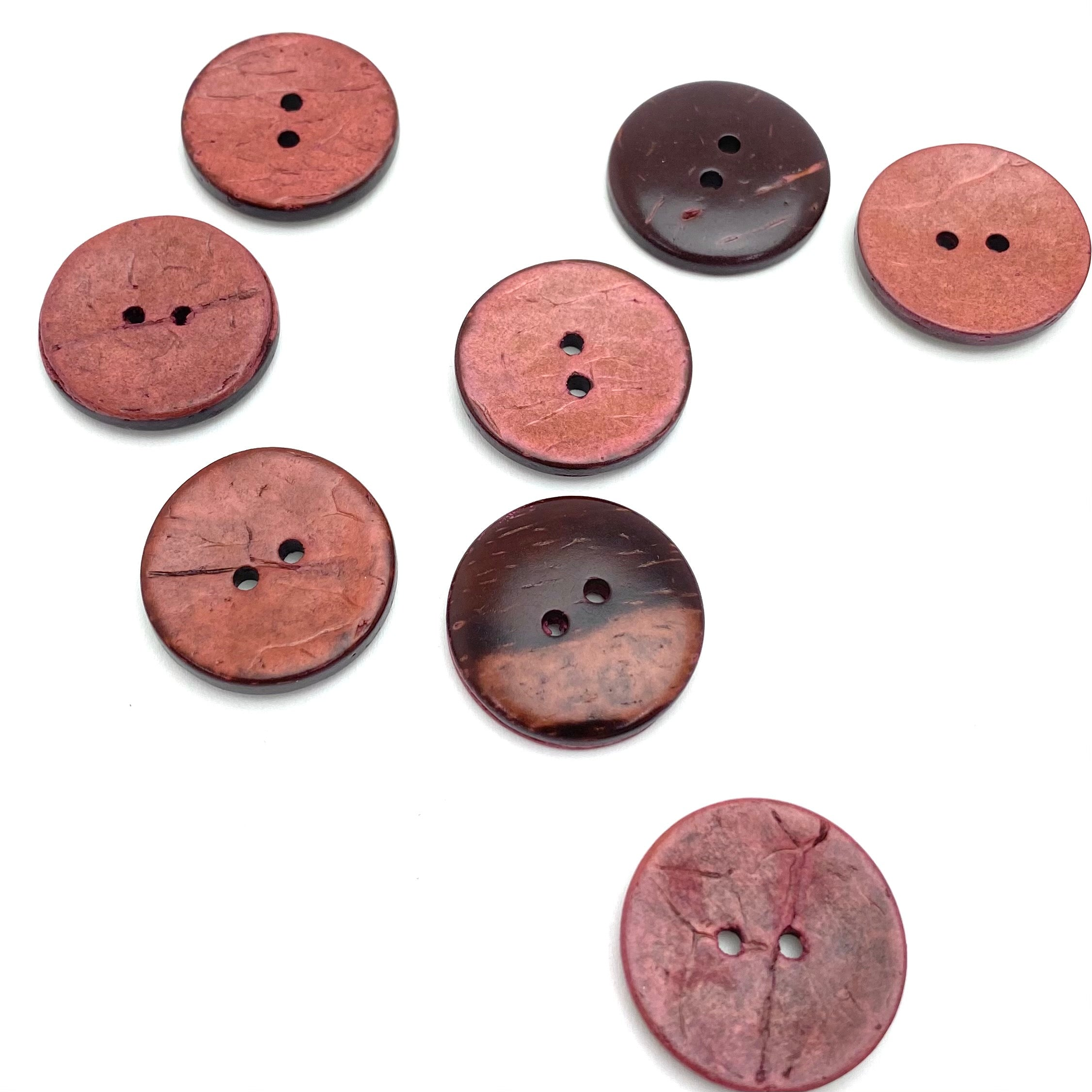 Pink Brown Coconut Buttons