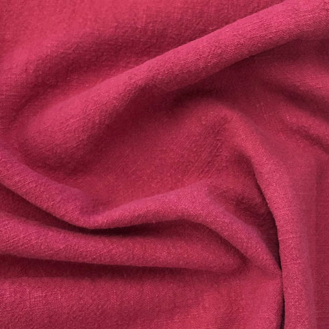 Plum Washed Ramie Linen Fabric