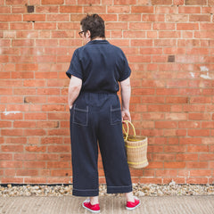 Back of the Cressida Jumpsuit Sewing Pattern