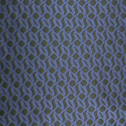 Wavy Dots Brocade Black and Navy Fabric
