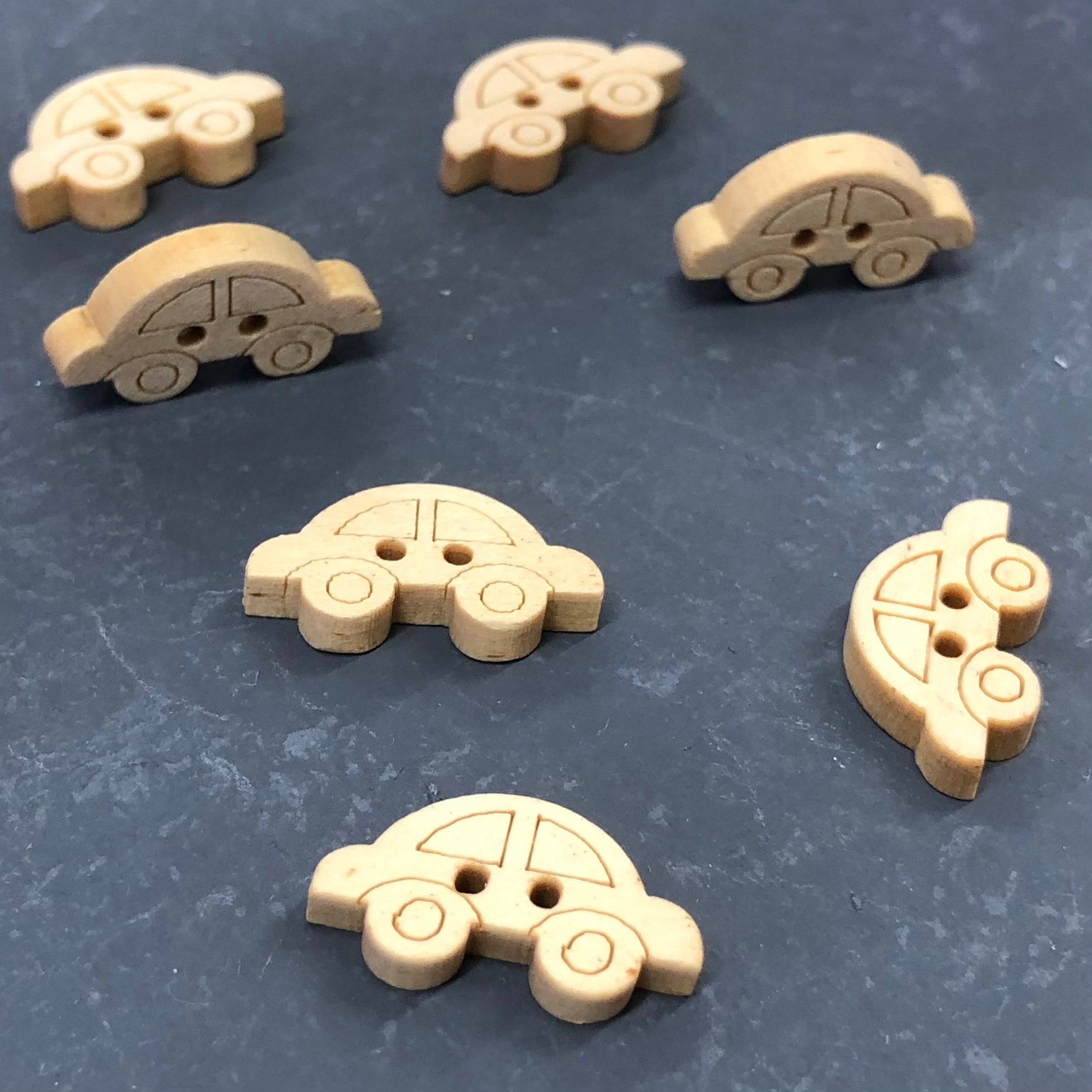 Wood Car Buttons