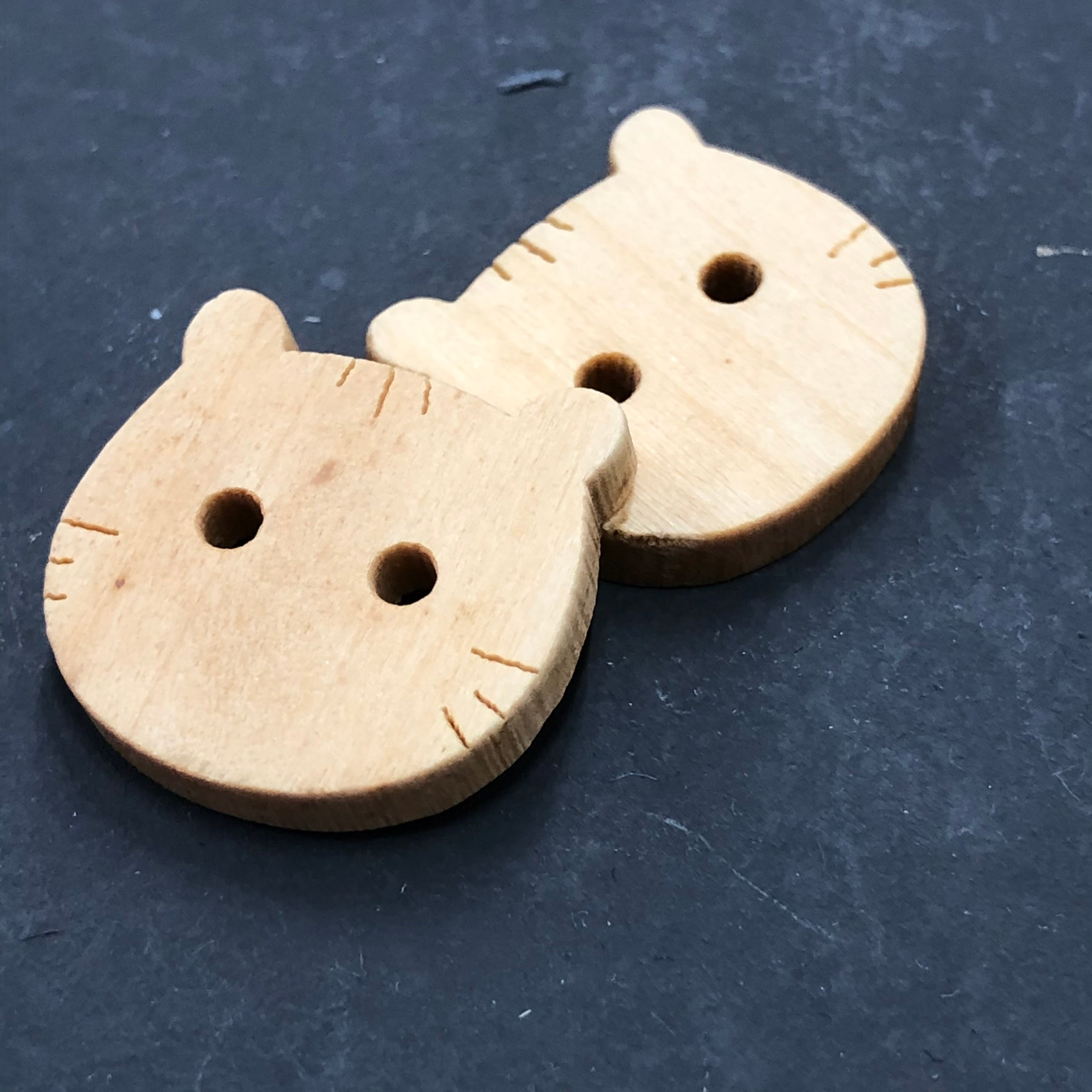 Wood Cat Buttons