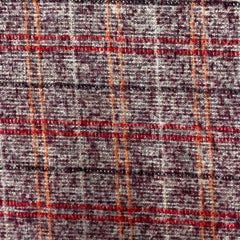 Wool Mix fluffy Check Mulberry