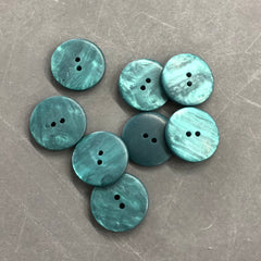 Deep Green Marbled Buttons