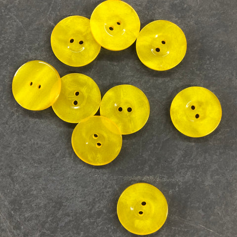 Yellow Pearled Buttons