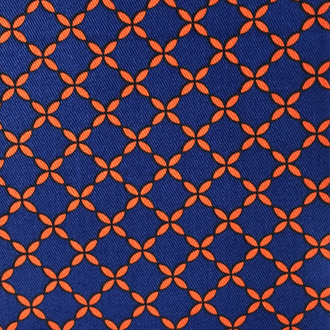 Royal Blue and Red Trellis Cotton