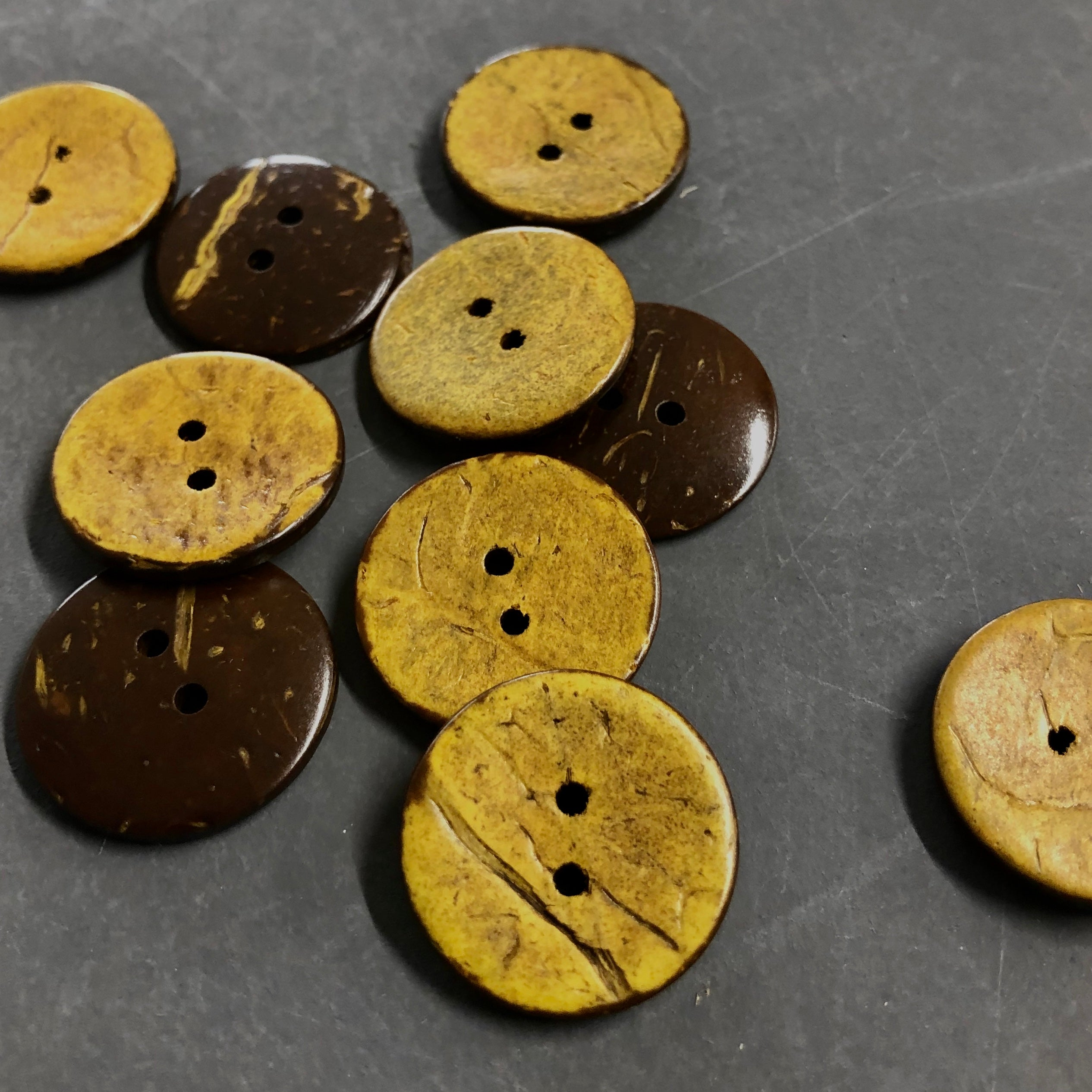 Yellow Coconut Buttons