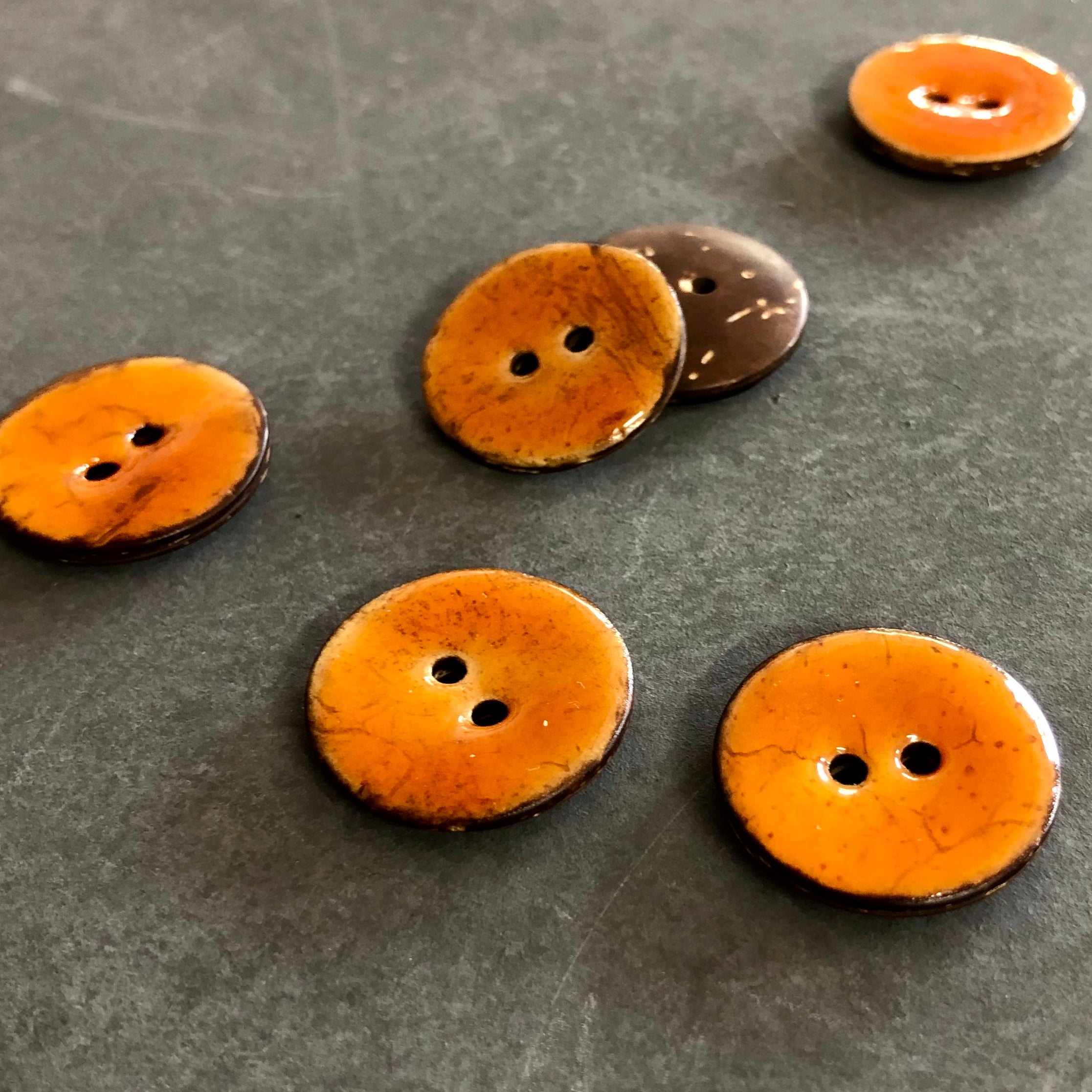 Tan Coconut Shell Buttons