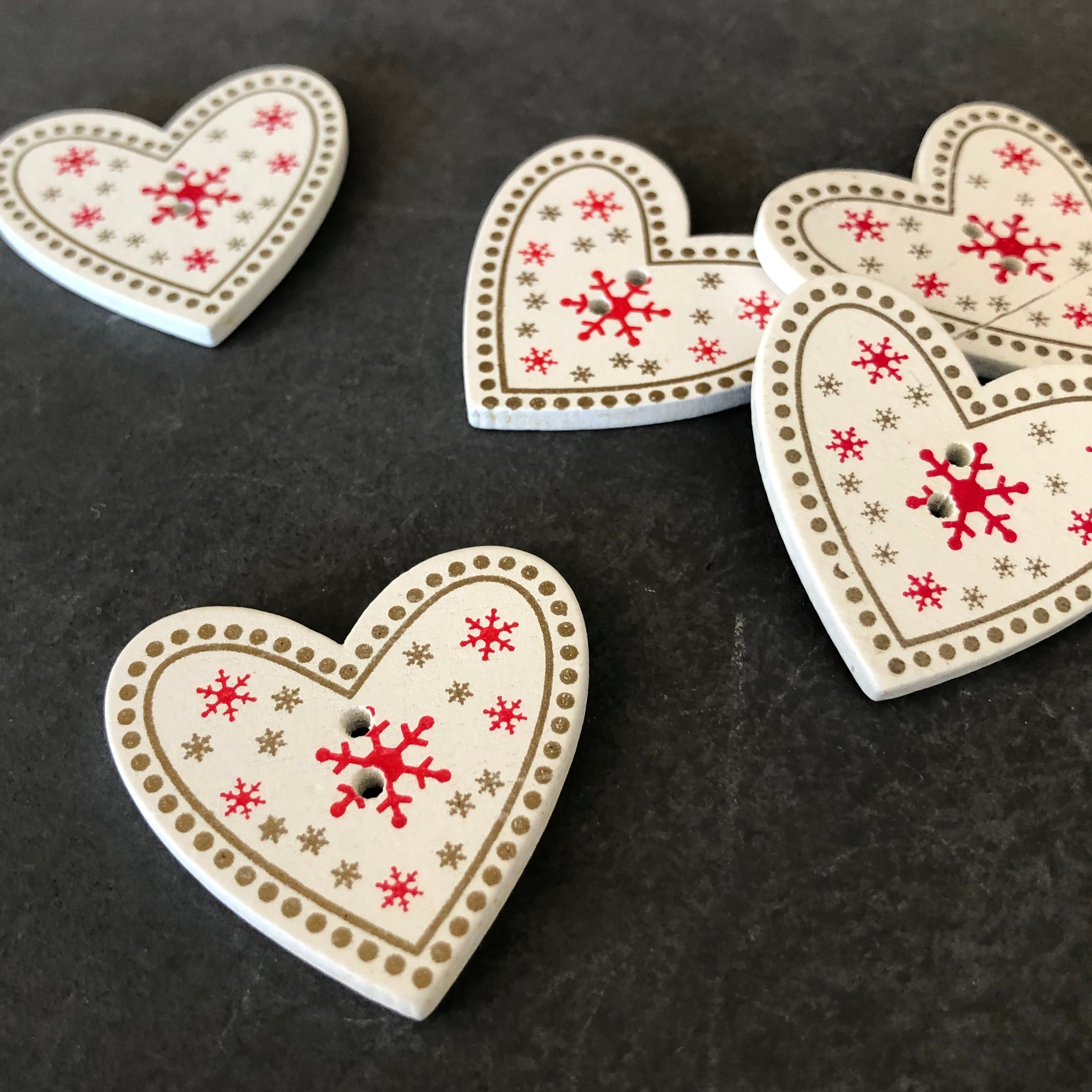 Scandinavian Heart Buttons
