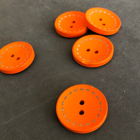 Orange Wooden Buttons