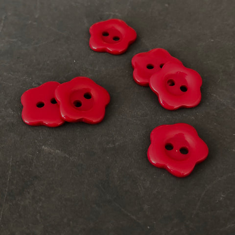 Red Flower Buttons