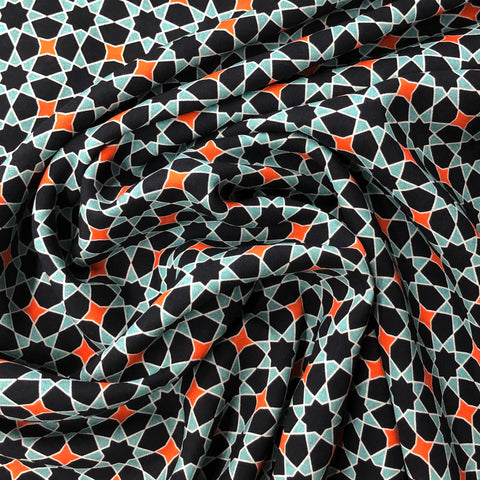 Layla Star Print Viscose Fabric