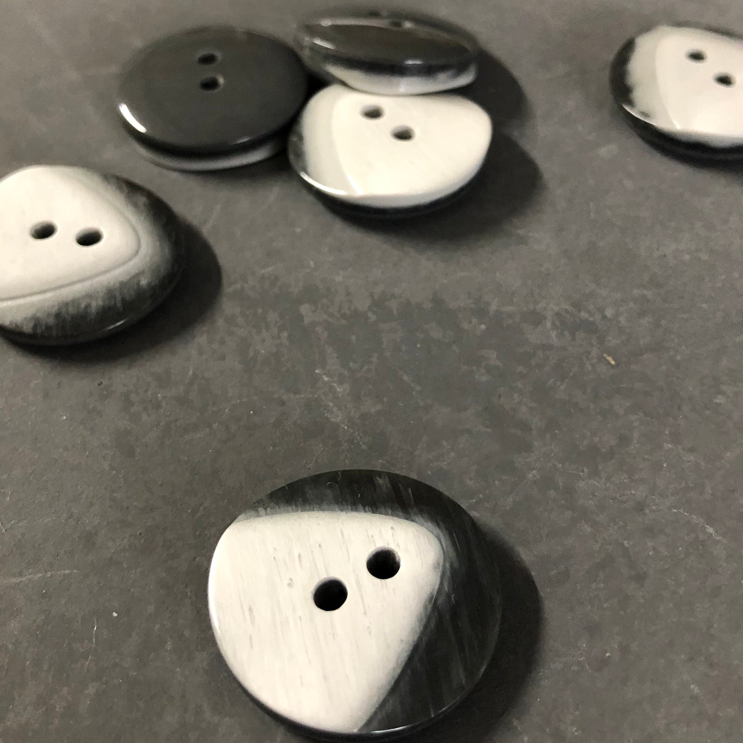 Grey Two Tone Buttons