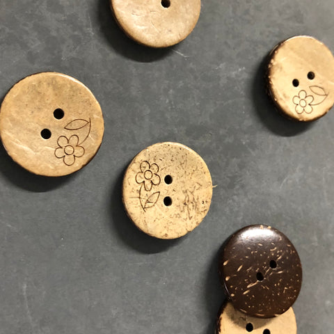 Coconut Buttons with Flower