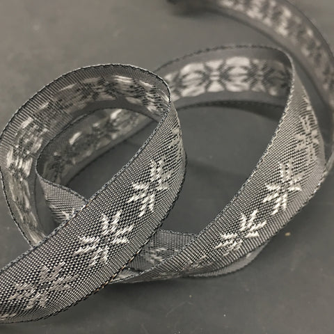 Metallic Snowflake Ribbon