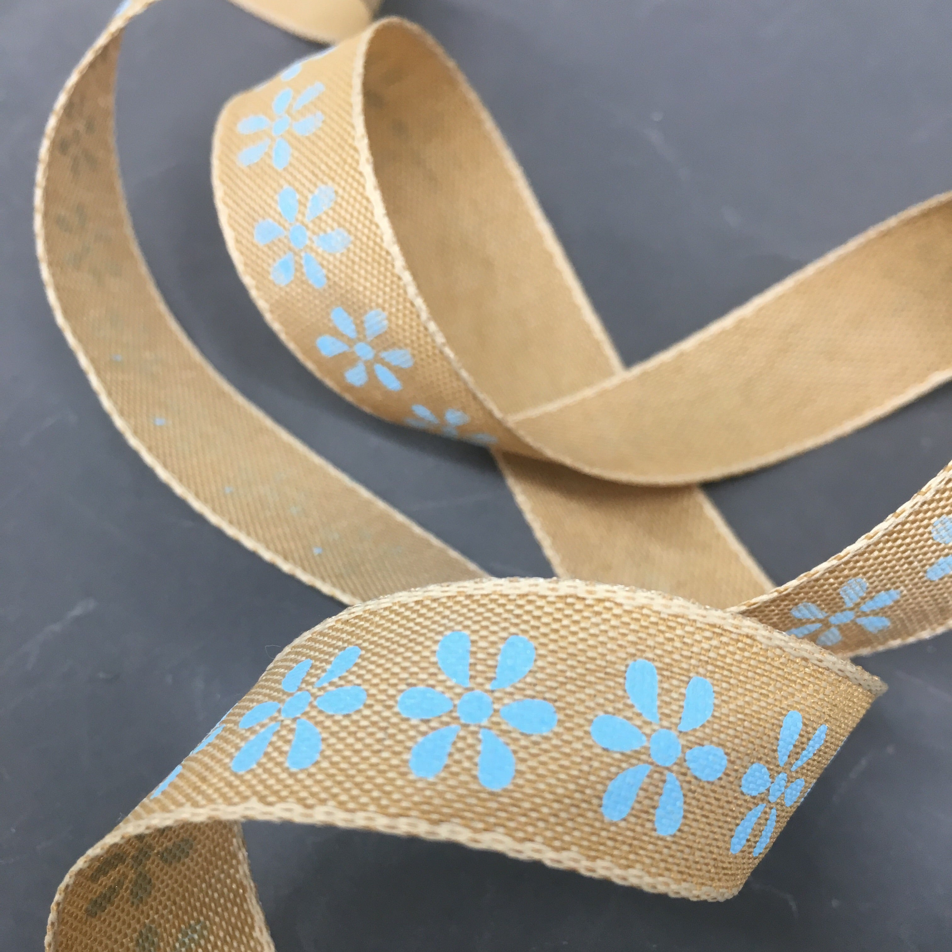Floral Natural Ribbon