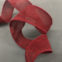 Wire-edged Natural Weave Ribbon